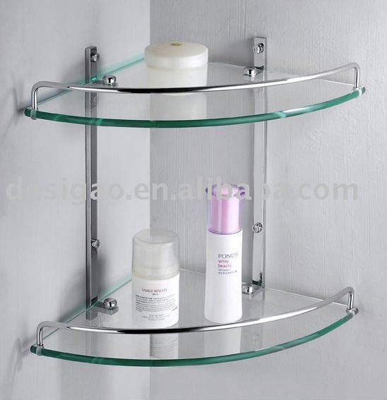 Bathroom Shelves CORNER GLASS BATHROOM SHELF Bathroom Design - Metal corner shelf bathroom for bathroom decor ideas