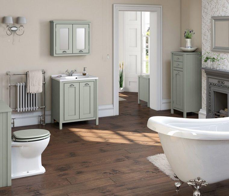 bagni-vintage-pavimento-legno-arredamento | INTERIOR DESIGN | Pinterest