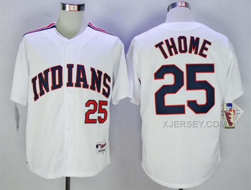 cleveland indians jim thome white 1978 turn back the clock stitched mlb jersey