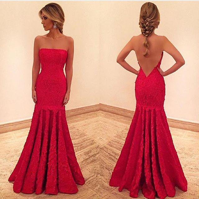 Elegant Low-Cut Evening Gown