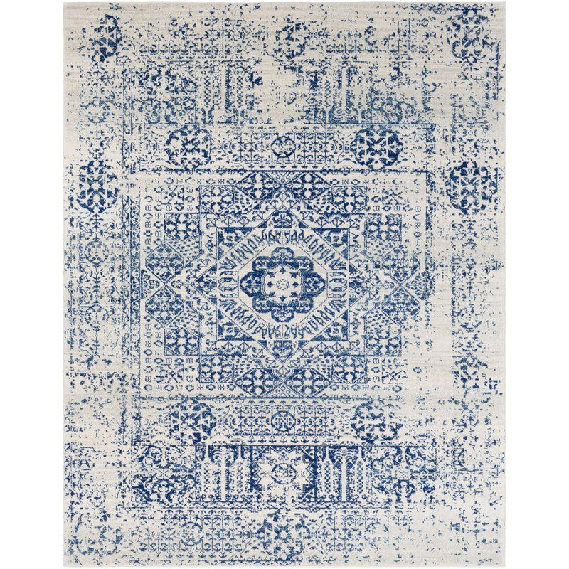Hillsby Blue Beige Area Rug With Images Blue Rug Area
