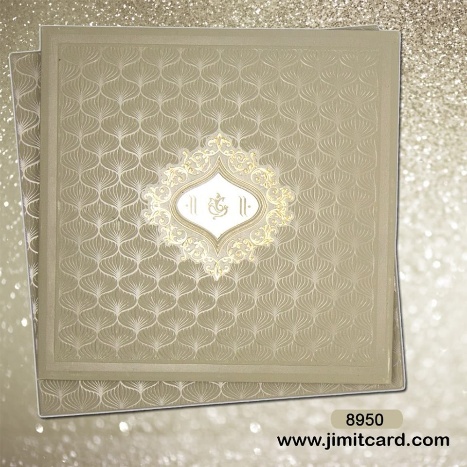 A Glamorous floral patterns all over the #WeddingCard with the ...