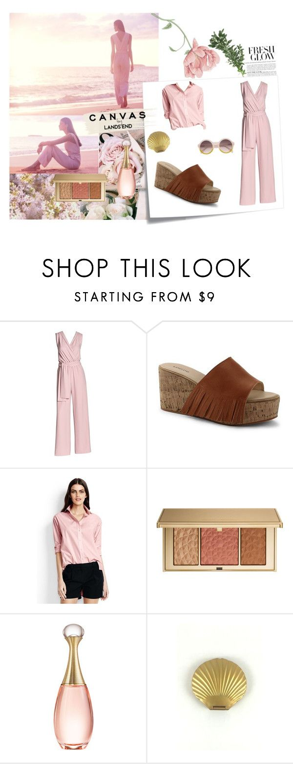 """""""Paint Your Look With Canvas by Lands' End: Contest Entry"""" by sabrina-alexandra-vanci ❤ liked on Polyvore featuring Lands' End, Post-It, Canvas by Lands' End, Estée Lauder and Christian Dior"""