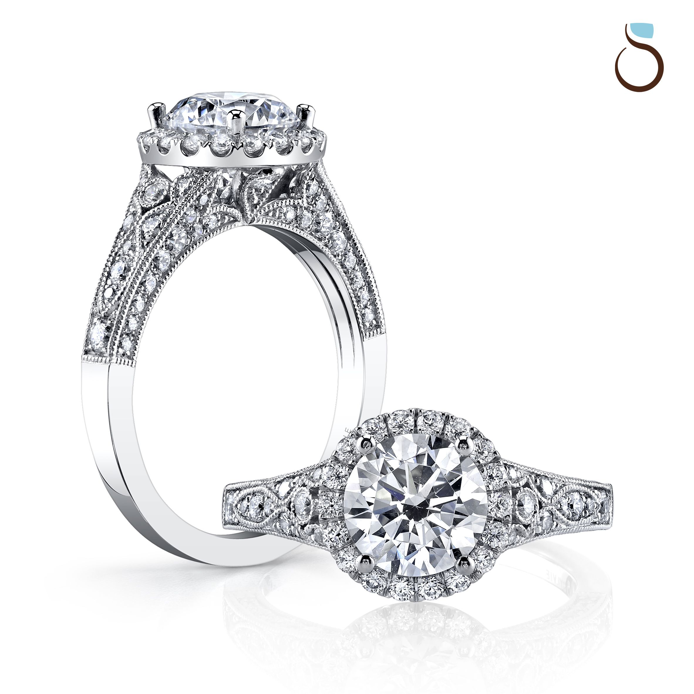 Engagement Rings Antique Wedding Rings Sterling Silver Diamond