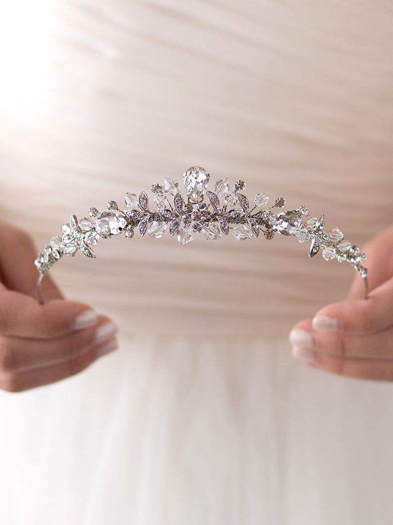 Bride,Crystal Wedding Tiara, Princess Tiara, Crystal Wedding Crown, Bridal Tiara, Rhinestone Wedding Crown, Bridal Hair Accessories ~TI-3176