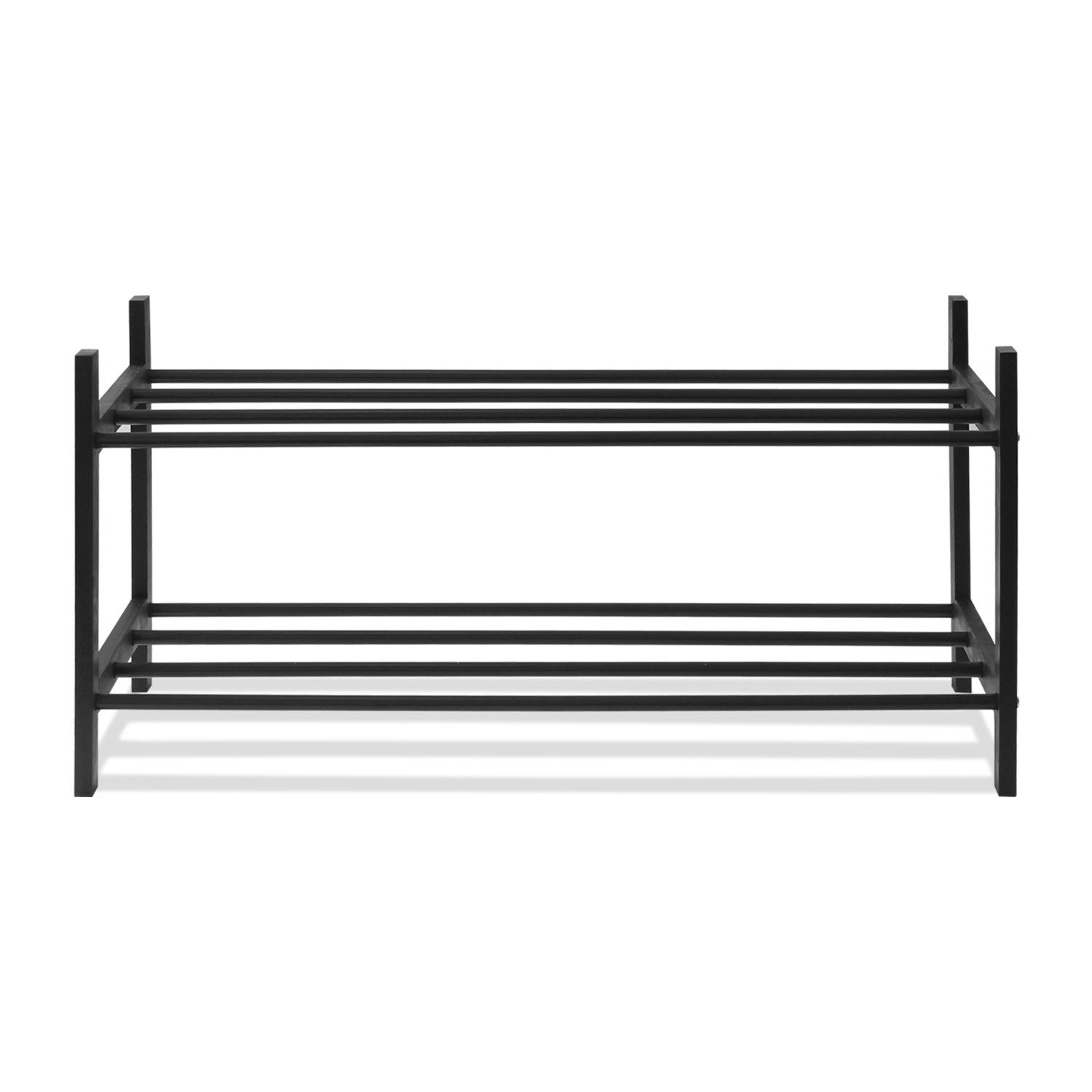 Tier Pine Solid Wood with Metal Pole Shoe Rack Products
