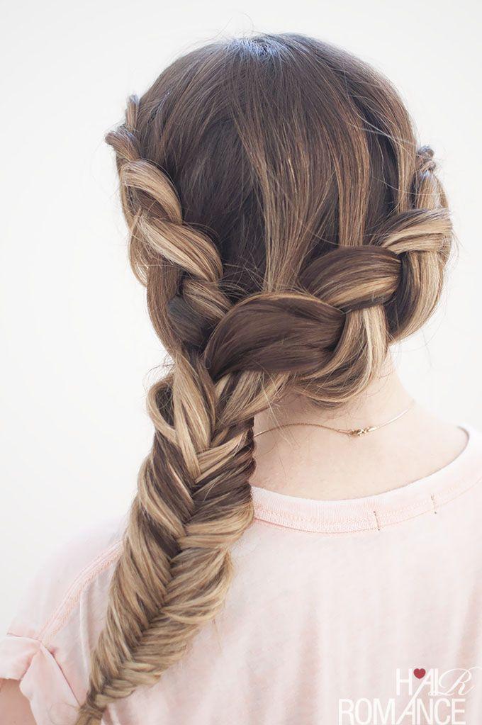 Dream Hair Combo Dutch Fishtail Side Braid Tutorial Braided