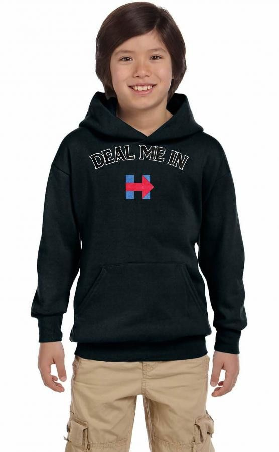 Deal Me in Hillary Clinton Youth Hoodie