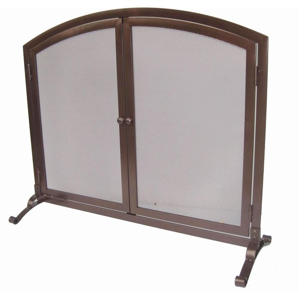 home decorators collection emberly brown 1 panel fireplace screen