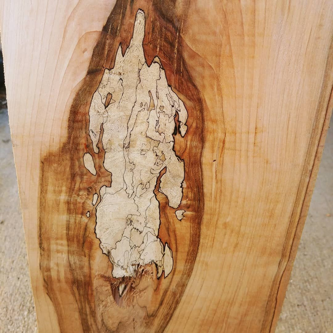 SPALTED MAPLE // I love the figure in spalted maple boards. The light colored wood is softer and more porous, so it will jeed to be stabilized before we do anything with it. @postmalone