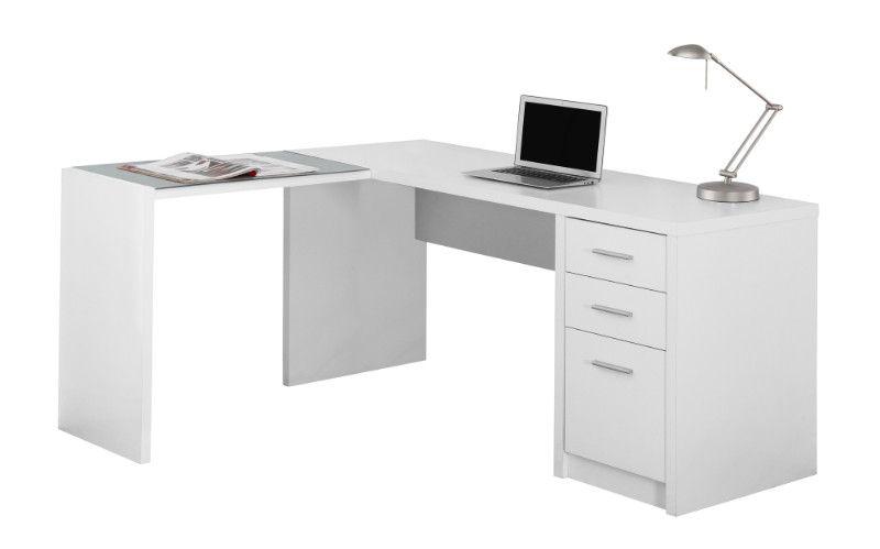 Computer Desk White Corner With Tempered Glass White Desks L Shaped Corner Desk Home Office Computer Desk