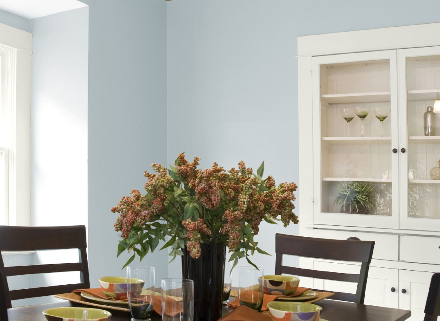 glidden+heavenly+blue | dining room in silver blue sea | living