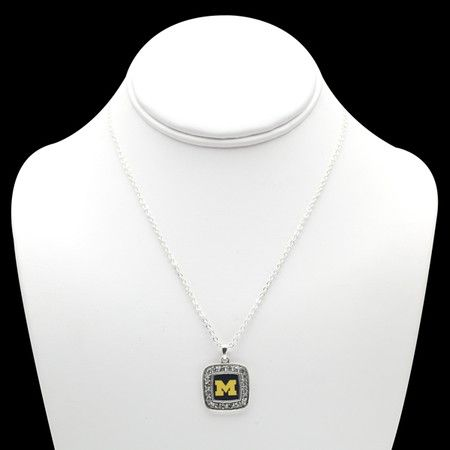 University of Michigan Classic Necklace - a sterling silver necklace