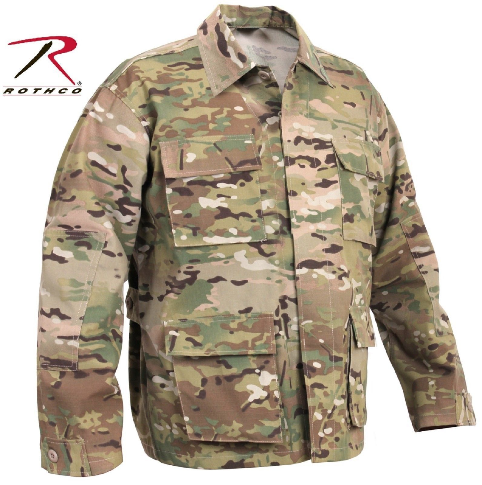 MultiCam Military Style BDU Shirts - Rothco Camouflage Uniform Shirt Top  S-3XL 0f9f57f3bd