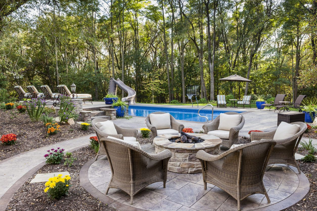 60 Backyard and Patio Fire Pit Ideas (Different Types with ... on For Living Lawrence Fire Pit id=39052