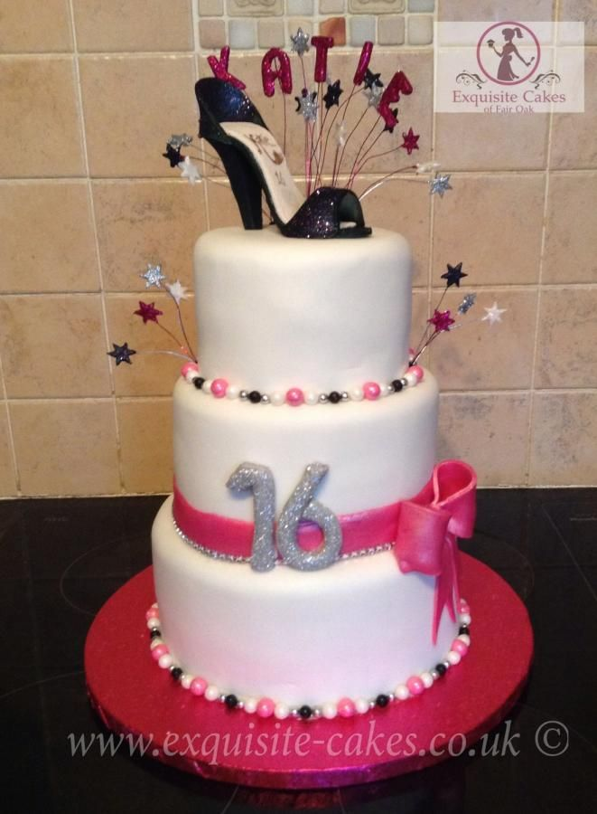 16th Birthday Cake Cake By Natalie Wells Exquisite Cakes Made
