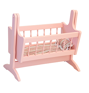 We Love Our American Made Wooden Swinging Doll Cradle And