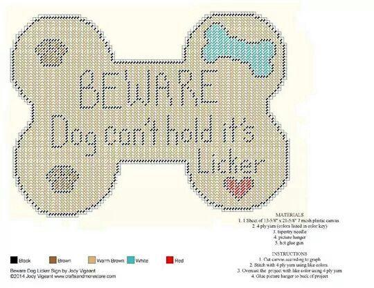 Dog Bone Sign Plastic Canvas Patterns Plastic Canvas Crafts