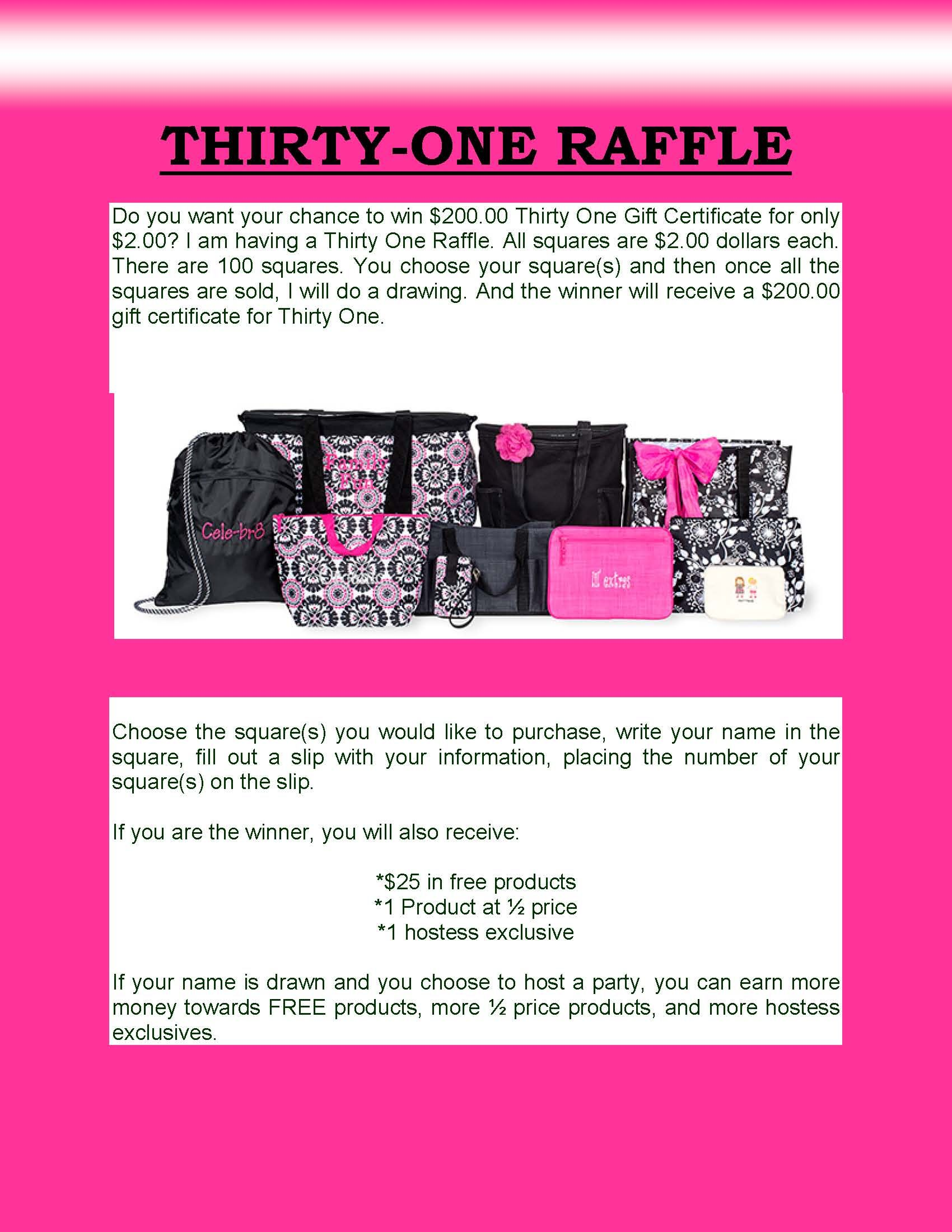 Thirty one raffle great way to grow your customer base great thirty one raffle great way to grow your customer base great magicingreecefo Image collections