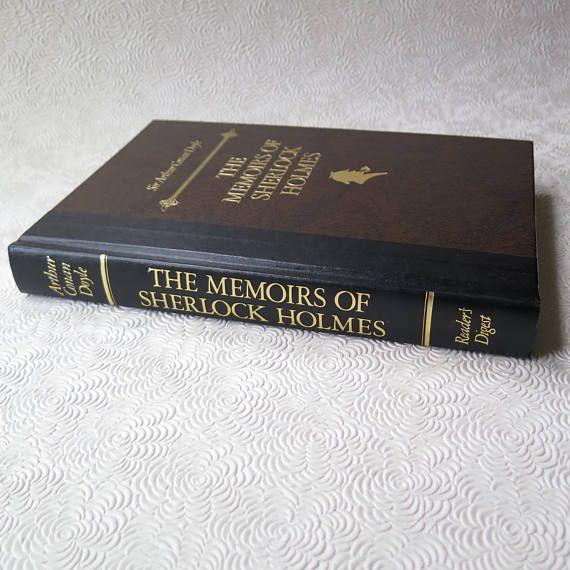 Sherlock Holmes The Memoirs of Sherlock Holmes Arthur Conan Doyle Hardback Illustrated Gilded Readers Digest 1988 Edition Biography Too