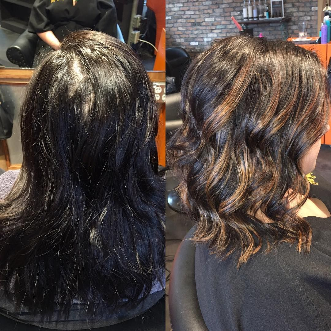 I love bringing dark hair to life with a warm balayage