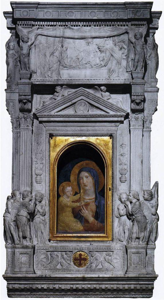 Ciborium, by Donatello 1432-33 Marble Basilica di San Pietro, Vatican