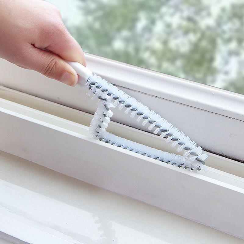 다목적 주방 욕실 창/세척 역/수로/틈새 청소 브러시 실용적인 청소 도구