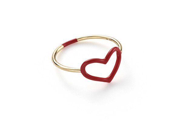 Jordan Askill Ruby Enamel Heart Ring Closet Pinterest Rings