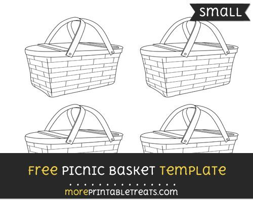 free picnic basket template small shapes and templates