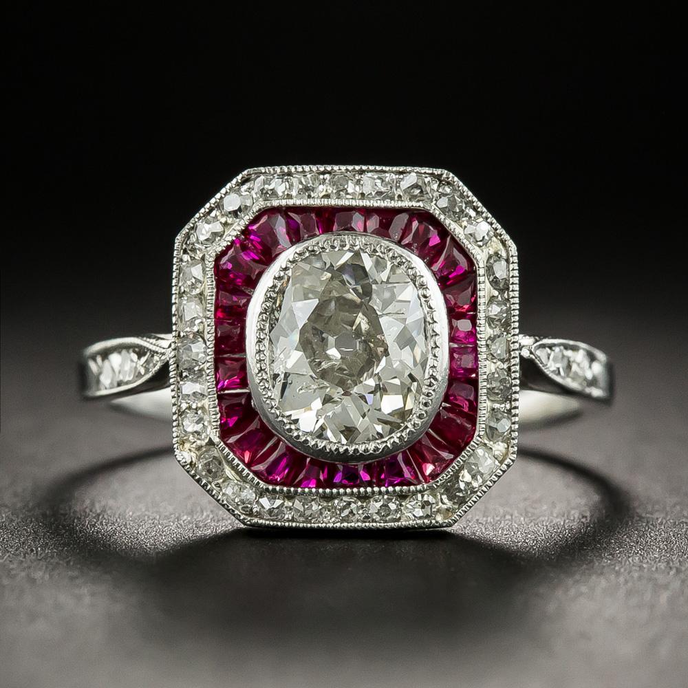 This radiant rarityan Art Deco engagement ring, hand