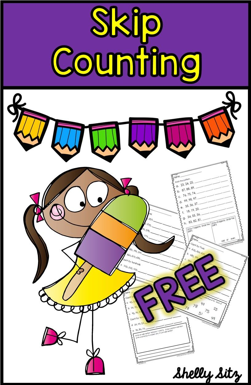 Skip counting for second grade--FREE second grade math | Free ...