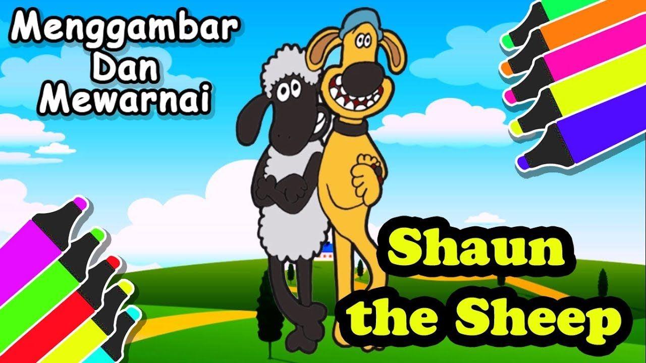 Menggambar Shaun The Ship Dan Mewarnainya Untuk Anak Gambar