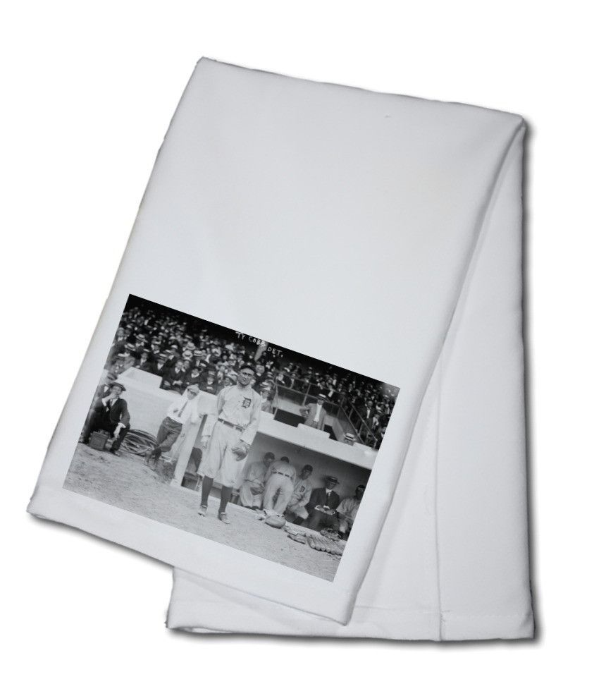Towel (Ty Cobb standing in front of Dugout Baseball - Vintage ...