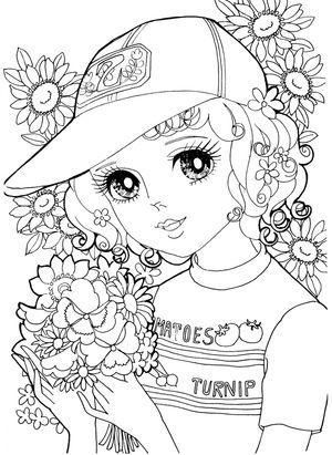 昭和レトロ 女の子 昭和ぬりえ Princess Coloring Pagescoloring