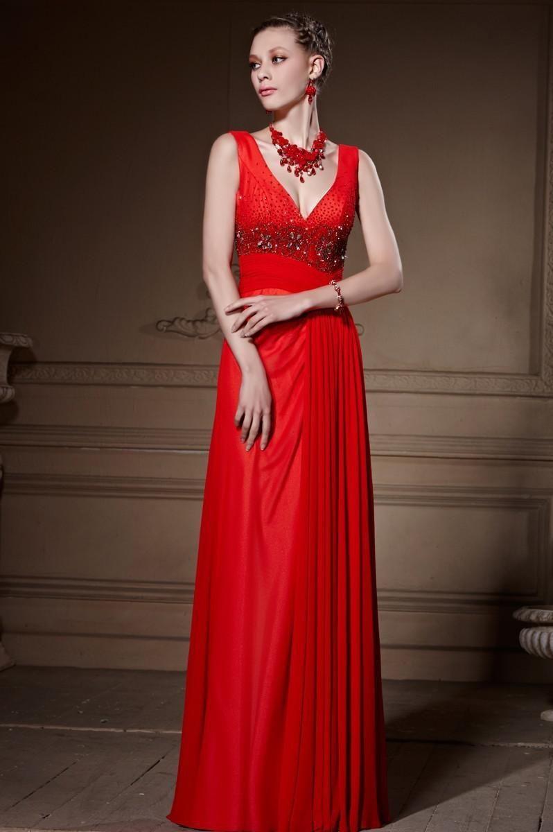 Bm real sample vestidos de festa long evening dress sexy red dresses