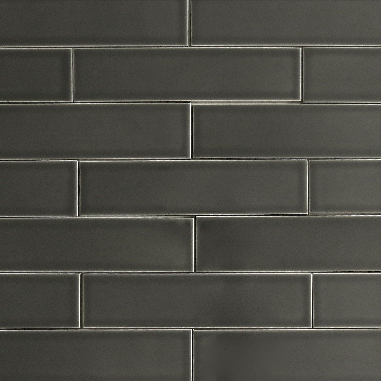 - Clayhaus 2x8 Carbon - Dark Gray Ceramic Tile -This Tile Is Well