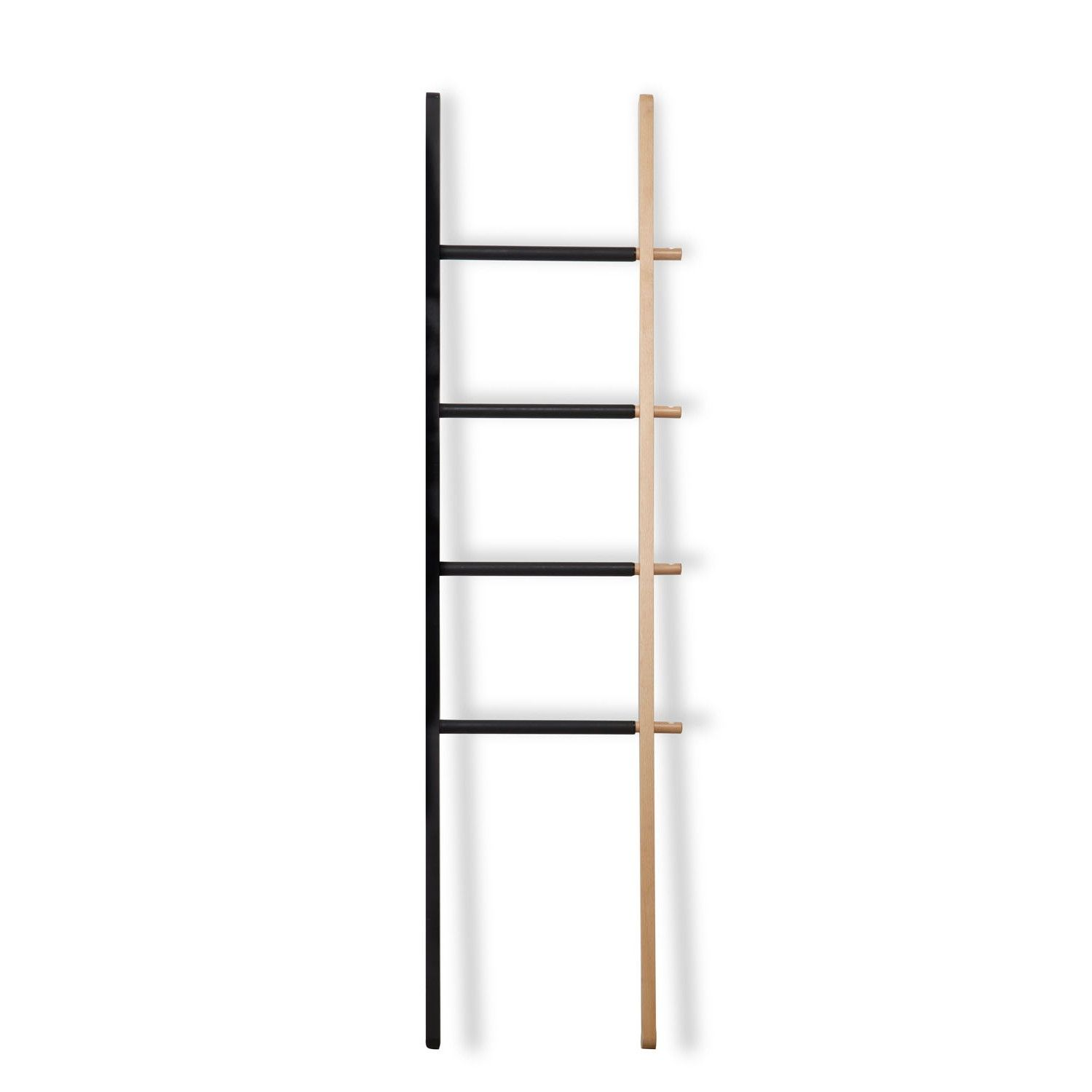 Umbra perchero hub ladder original perchero de pared hub ladder de umbra una escalera de madera - Perchero original pared ...