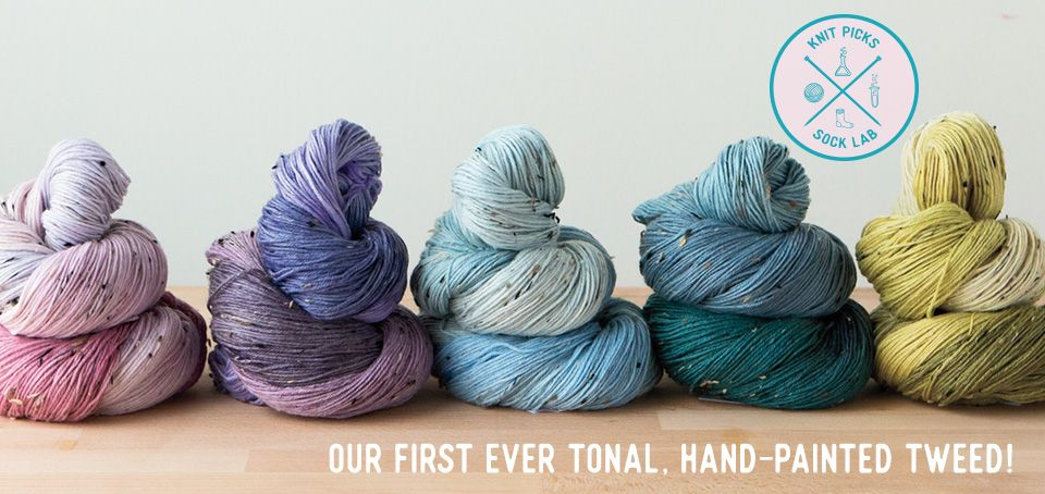 New Sock Lab Colors Hand painted yarn, Finger knitting