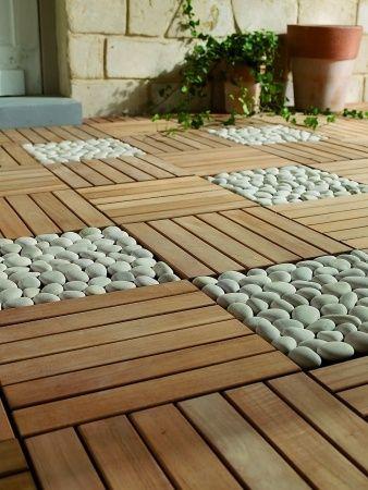dalles galets | Jardin et balcon | Pinterest | Dalles, Galets et ...