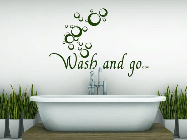 wandtattoo wash and go bei wandtattoos f rs bad pinterest wandtattoos bad und badezimmer. Black Bedroom Furniture Sets. Home Design Ideas