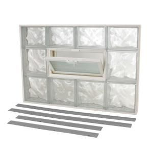 Tafco Windows Nailup2 Glass Block Window 32 In X 22 In Wave Pattern With Vent Nu2 3222 At The Home Depot Glass Block Windows Glass Blocks Wall Glass Blocks