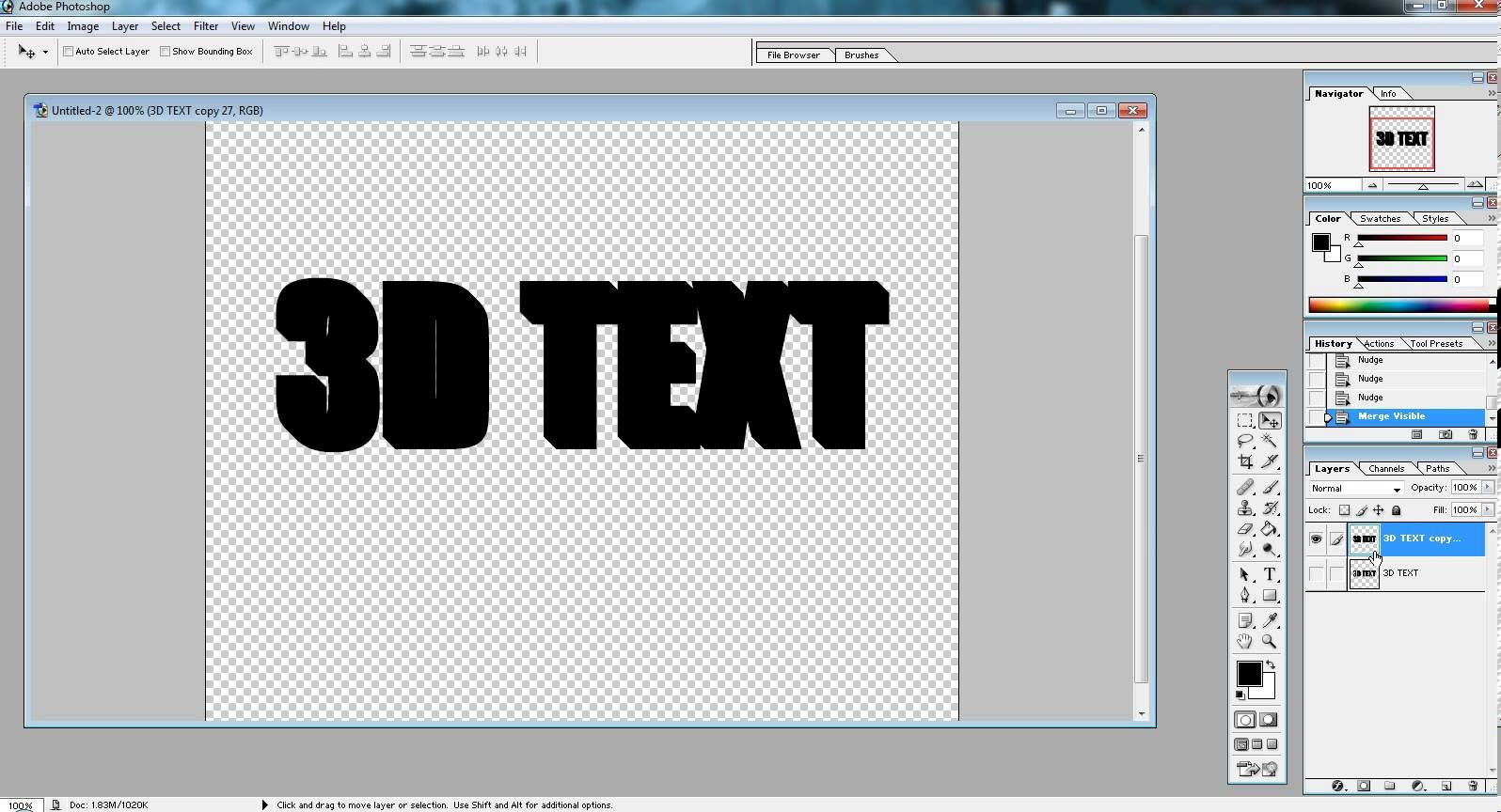 3d text in photoshop 70 tutorial youtube videos pinterest 3d text in photoshop tutorial baditri Image collections