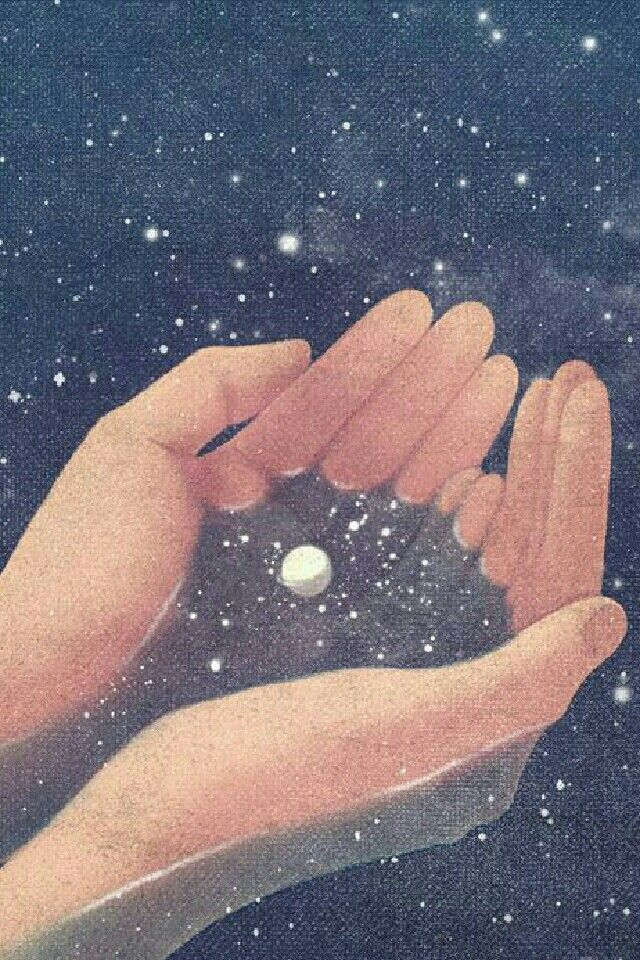 Stars in her hands #astrologyaesthetic