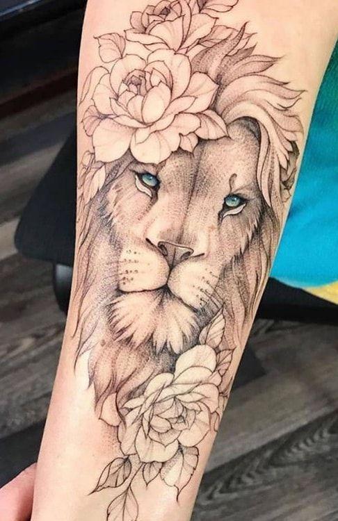 As 70 melhores tatuagens de leão da internet [Masculinas e Femininas] | Eu  amo tatuagens | Tattoo feminina, Lion hand tattoo, Lion tattoo