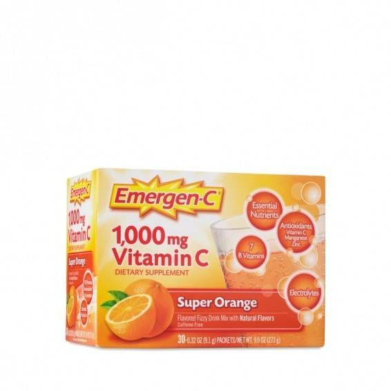 Alacer Super Orange Emergen-C Vitamin C Fizzy Drink Mix www.theteelieblog.com  Emergen-C Old School! This original formula is a best seller, featuring essential nutrients, including 1,000 mg of vitamin C and other immune supporting antioxidants zinc and manganese, 7 B vitamins to enhance energy naturally, and electrolytes to replenish post-workout! #thrivemarket