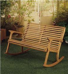 Oak Rocker Settee Rocking Chair