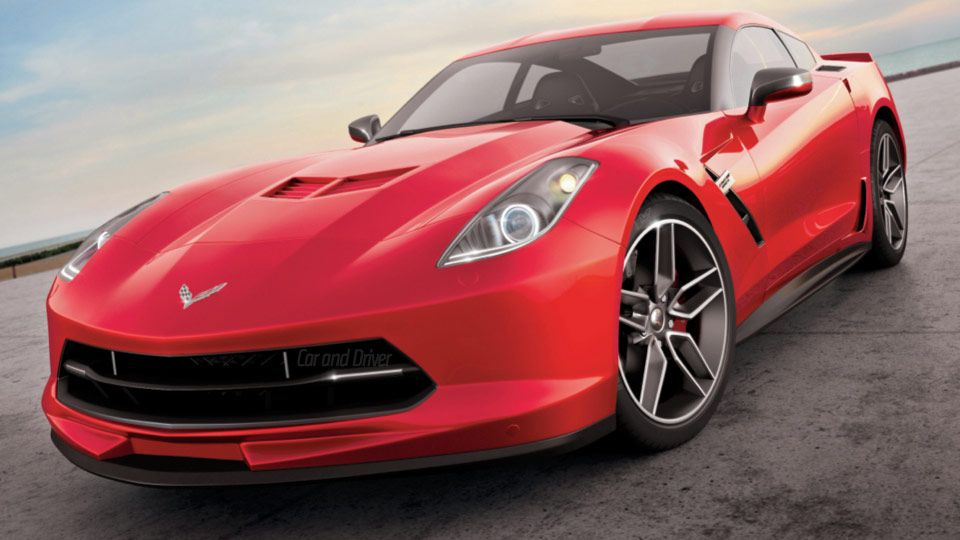 2014 C7 Corvette Illustration By Car And Driver Magazine
