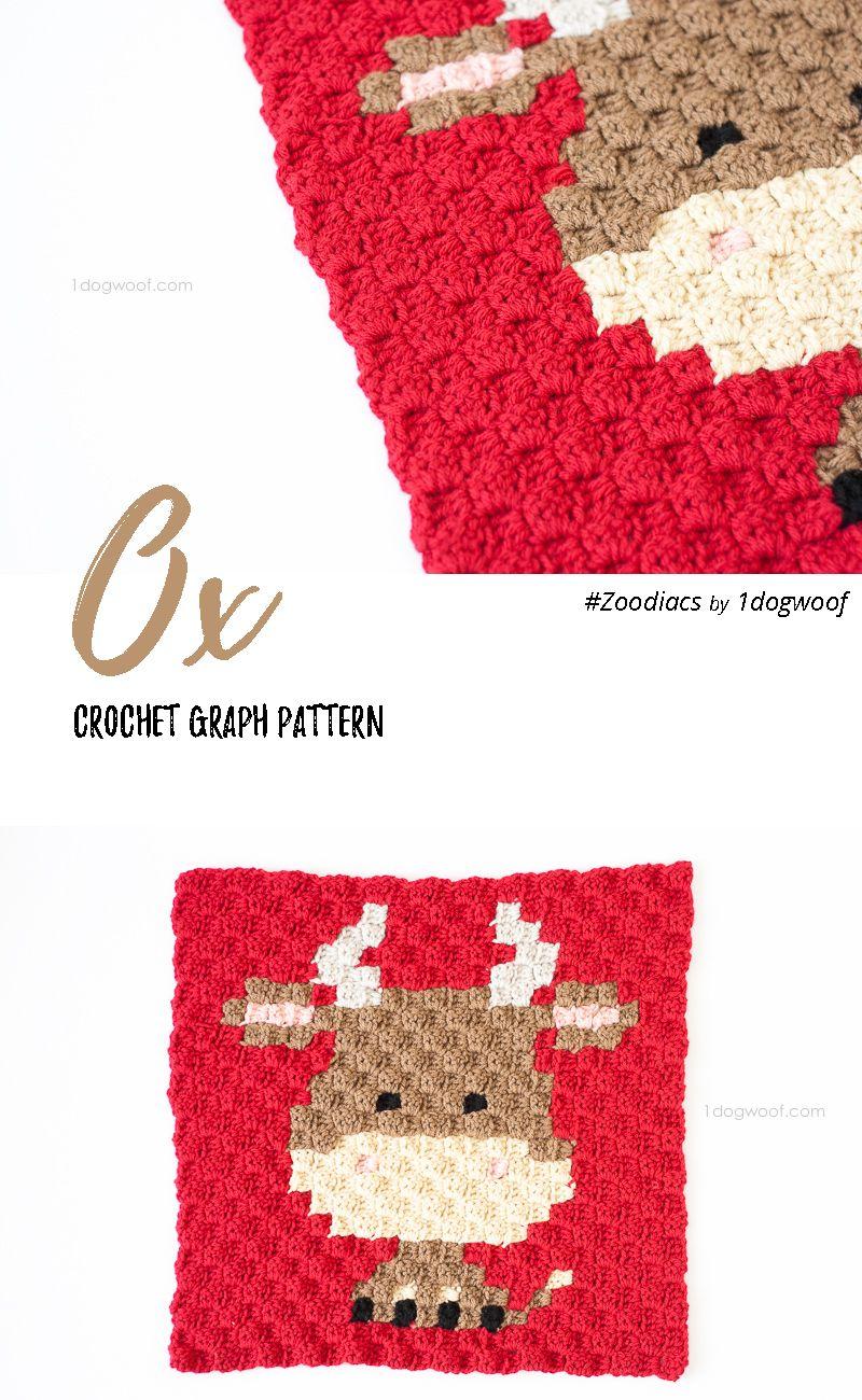 Zoodiacs Ox C2C Crochet Graph | Manta, Tejido y Cobija