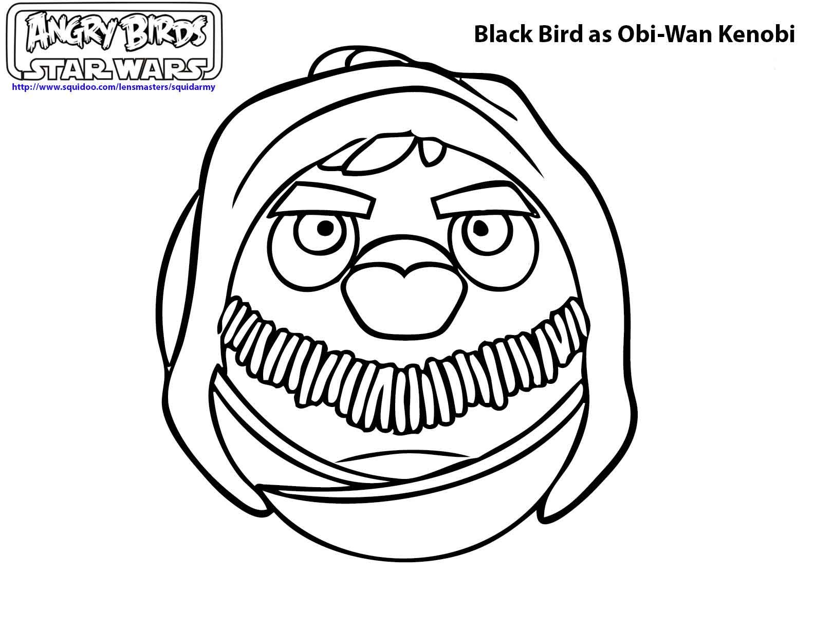 Angry birds star wars coloring pages star wars - Coloriage angry bird star wars ...
