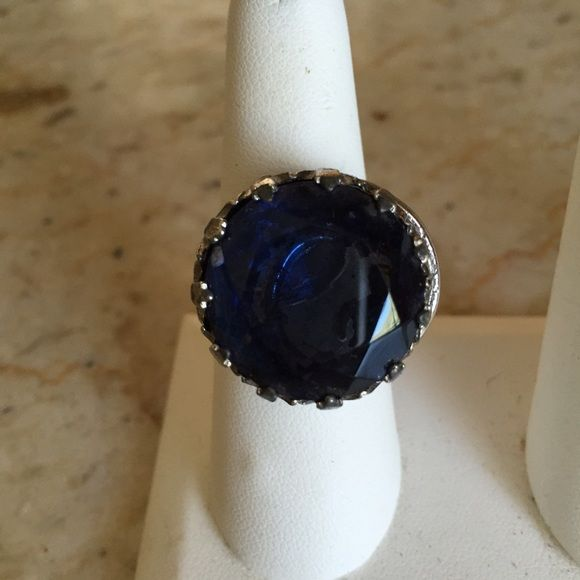 New Years Delight! Vintage Ring with Blue Stone Vintage Ring with Blue Stone - size 9. Ring portion had been redone. Stone and setting in great condition. Vintage Jewelry Rings